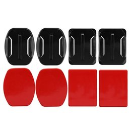 Wholesale Adhesive Sticky Pads Stickers Fixed For Hero Base Parts Mounts Flat Curved Base Helmet Sticker Action Camera Accessories