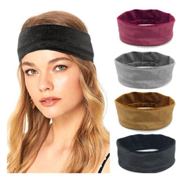 $enCountryForm.capitalKeyWord Australia - Hot women girls Velvet headbands running sports fitness hair accessaries Pleuche Absorb sweat Women Boho Hair Head Wraps hairbands