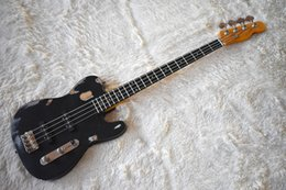 $enCountryForm.capitalKeyWord Australia - Factory Custom Matte Black 4 strings Electric Bass Guitar with Distressed Body,Chrome Hardware,Rosewood Fretboard,SS Pickup,be Customized