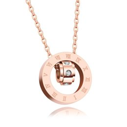 Happiness necklace pendant online shopping - Wheel of Happiness Pendant Necklaces Zircon Roman Numeral Cake Rose Gold Lovely Designer Accessories Women Girls Stainless Steel Jewelry
