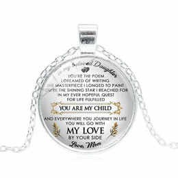 China You Are My Child My Love Necklace Letter Mother Father Love Glass Cabochon Necklace Fashion Jewelry Will and Sandy drop Ship suppliers