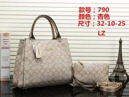 $enCountryForm.capitalKeyWord Australia - New ladies handbag black apricot brown red shoulder bag quality female hand shoulder bag two sets 32cm 10cm 25cm