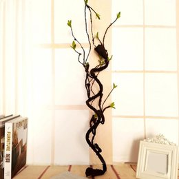 plastic grapes home decor UK - Artificial Tree Rattan Dried Flowers Grape Twigs Plastic Fake Plant Dry Vine Branch Flower Home Party Wedding Decor