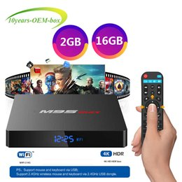 Ultra Hd Android Tv Box Australia - M9S MAX Android 7.1 TV Box Amlogic S905W Quad Core Android 7.1 RAM 1GB 2GB ROM 8GB 16GB WiFi 2.4G Ultra HD TV Box Better H96 MAX PLUS