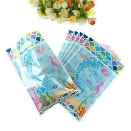 $enCountryForm.capitalKeyWord Australia - 10pcs Mermaid Theme Party Gift Bag Plastic Candy Bag Party Decor Loot For Kids Birthday Supplies