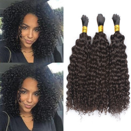 Brazilian afro Braid online shopping - Afro Curly Human Hair Bulks No Weft Brazilian Kinky Curly Hair Bulk for Braiding No Attachment