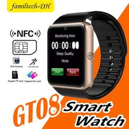 $enCountryForm.capitalKeyWord Australia - New Smart Watches iwatch Men GT08 Bluetooth Connectivity for iPhone Android Phone Smart Electronics with Sim Card Push Messages SIM Slot