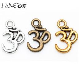 $enCountryForm.capitalKeyWord NZ - Lots 100 pcs Tibetan Silver ohm om Yoga Sign Buddha 3D Charm Pendants Findings 16mm