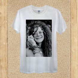 51cf1346 Janis Lyn Joplin T-shirt Pearl Psychedelic rock best unisex women fitted  quality size discout hot new tshirt
