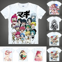 T Shirts Style Australia - Anime Shirt Magi The Labyrinth of Magic T-Shirts Multi-style Short Sleeve Aladdin Sinbad Cosplay Motivs Hentai Shirts
