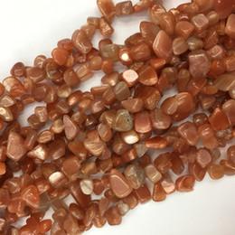 "$enCountryForm.capitalKeyWord Australia - High Quality Natural Genuine Orange Gold Sunstone Teardrop Nugget Side Drilled Loose Beads Fit Jewelry 8-10mm 15"" 05772"