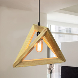 wood ceiling lights Australia - Vintage wood pendant light indoor LED modern lamp Nordic restaurant bar coffee shop dining room ceiling hanging lighting fixture