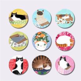 $enCountryForm.capitalKeyWord Australia - Lychee Life Cartoon Cats Series Fridge Magnet Round Shape Refrigerator Magnets Travel Souvenirs Home Kitchen Decoration