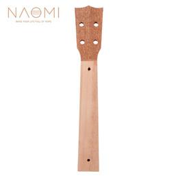 Guitar Neck Part NZ - NAOMI Ukulele Neck 26 Inch Mahogany Ukulele Neck Sapele Wood Veener Head Ukulele Neck DIY Guitar Parts Accessories New