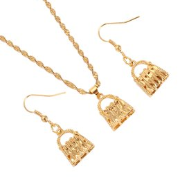 $enCountryForm.capitalKeyWord Australia - Papua New Fashion Guinea PNG Necklace Pendant Earrings Set African Women Bag Shape Bridal Wedding Jewelry