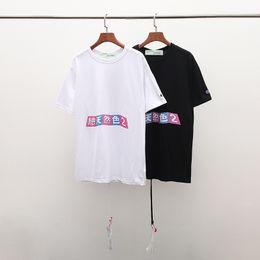 $enCountryForm.capitalKeyWord NZ - Japanese brand men's fashion T-shirt unique floral arrowhead print men's fashion design 2019 T-shirt men's clothing all match European size
