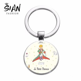 $enCountryForm.capitalKeyWord NZ - SIAN Classic Le Petit Prince Keychain Planet The Little Prince Fox Rose Fairy Tale Creative Pattern Pendant Keyring Kids Jewelry
