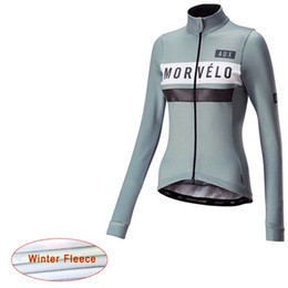 anti thermal clothing 2019 - Morvelo Long Sleeve woman Winter Thermal Fleece Bike Clothing Outdoor Sports Bicycle Mountaineering suit cheap anti ther