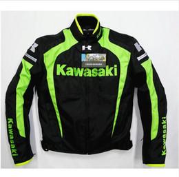 Pink Motorcycle Jackets Australia - 2 colors Japan motorcycle jackets For Kawasaki Racing Team motorbike racing jackets with protectors Team Green moto Chaqueta