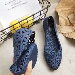 $enCountryForm.capitalKeyWord NZ - new women jelly shoes comfortable flat sandals summer beach quick dry hollow out wawaterproof rain summer sweet PVC flower