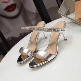 $enCountryForm.capitalKeyWord Australia - 2019 Spring  summer New style on the market, Women diamond-encrusted high-heeled slippers, street style fashion slippers,Size 35-39
