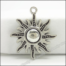 $enCountryForm.capitalKeyWord NZ - jewelry findings china 70pcs Vintage Charms Sun Pendant Tibetan silver Zinc Alloy Fit Bracelet Necklace DIY Metal Jewelry Findings