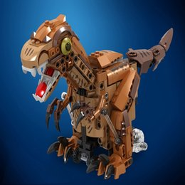 $enCountryForm.capitalKeyWord NZ - New hot-selling product electric automatic obstacle avoidance dinosaur crawling swing assembling building blocks children's educational gift