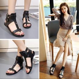 $enCountryForm.capitalKeyWord Australia - Hot Sale- Roman Sandals Women Luxury Designer Shoes Cowhide Leather for Cheap Sale Thin Leg Black Slippers Sandalias Size 35-39