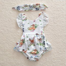 Toddler deer online shopping - Newborn toddler infant baby girl deer romper headband cute fashion suit bodysuit jumpsuit clothes outfits