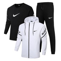Brand New Anzug Männer Set Brief Sport Sweatsuit Male Sweat Trainingsanzug Jacke Hoodie mit Hose Herren Sportanzüge