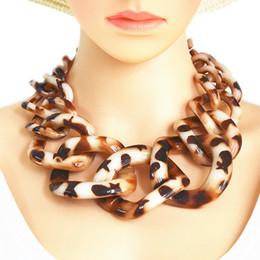 $enCountryForm.capitalKeyWord Australia - Fashion Necklaces Pendants Vintage Big Chain Link Acrylic Geometric Collar Long Necklace For Women