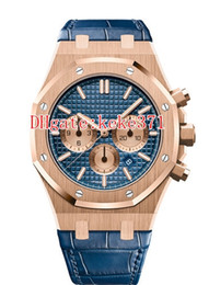 mens rose gold chronograph UK - 12 Style Hot Selling 41mm Offshore 26331 26331ST 26331OR.OO.D315CR.01 18k Rose Gold Leather Bands VK Quartz Chronograph Mens Watch Watches