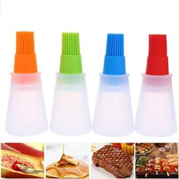Contact Balls Australia - Portable Silicone Bottle With Bbq Basting Pastry Brush Kitchen Baking Honey Oil Barbecue Tool Gadgets C19041501