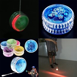 $enCountryForm.capitalKeyWord Australia - New Plastic Clear Light Up YoYo Balls Professional Yo-yo Children Adult Toys SH190913