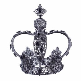 Chinese  ashion Jewelry Hair Jewelry Vintage Bridal Crystal Crown Tiara for Women Exquisite Rhinestone Pageant Queen Prom Decoration Hair Accessor... manufacturers