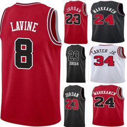 6d931c6fed86 2019 Men Zach 8 LaVine jerseys Wendell 34 Carter 23 Michael Lauri 24  Markkanen New Basketball Jersey