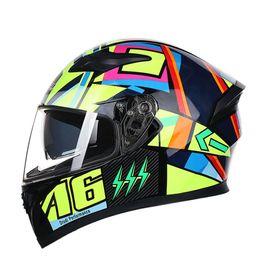 Motorcycle Half Helmets Sale NZ - Hot sale JIEKAI Flip Up Motorcycle Helmet Modular Moto Helmet With Inner Sun Visor Safety Double Lens Racing Full Face Helmets