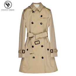 $enCountryForm.capitalKeyWord Australia - 2018 Autumn Fashion England Style High end Classic Double Breasted Trench coat women Windproof Waterproof Casual Overcoat LP202