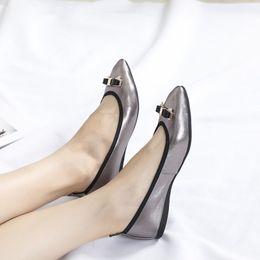 Shoes Metal Print Australia - Brand Women cow leather Low Heel Dress Wedding shoe Slip-On Metal Buckle Moccasins Shoe Flats Casual Pearl Horsebit Loafers wl18081201