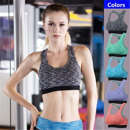 $enCountryForm.capitalKeyWord NZ - Brand Sports Bra Yoga Tops for Women Fitness Gym Running Vest Breathable Quick Drying Sleeveless Shirt Female Exercise Athletic Yoga Bra XL