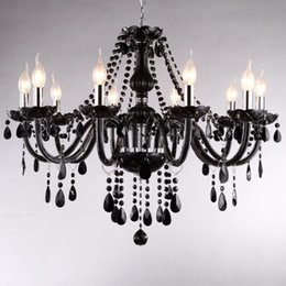 $enCountryForm.capitalKeyWord Australia - 18 15 10 8 6 Lights arms Luxury black crystal Chandelier lighting candle lamp brief fashion living room lamp chandelier lighting