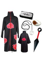 Wholesale sasuke cosplay for sale - Group buy Naruto Xiao organization flying section cloak set Sasuke eagle set stage costume cosplay
