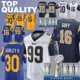 c21b44106 Rams jersey Todd 30 Gurley Jared 16 Goff Aaron 99 Donald Super Bowl 2019  new jerseys