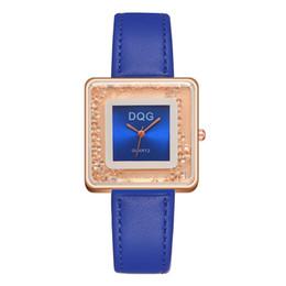 $enCountryForm.capitalKeyWord UK - Stylish Fashion Watch Women Rhinestone Square Dial Wristwatches Lady Leather Strap Watch Rhinestone Case Luxury Gift 38