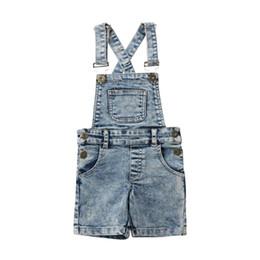 2407f175c027 Wholesale Denim Overalls Kids UK - 2019 Newborn Infant Kid Baby Girl Boy  Denim Bib Pants