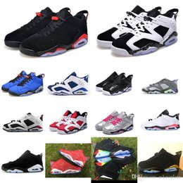 95ba836ecd7f Mens retro 6s low basketball shoes J6 Oreo Black Infrared White Chrome Gold  French Blue Slam Dunk Rainbow Jumpman VI aj6 sneakers with box