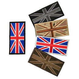 british army clothing UK - Wholesale British flag patches hook and loop fasteners Embroidered Army patches Tactical Badge Moral Armband For Backpack Caps free shipping