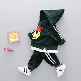 $enCountryForm.capitalKeyWord Australia - Cotton Sets Winter Cartoon Thick Woolen Kid Suit Children Set Boys Girl Clothing Baby Clothes J190715