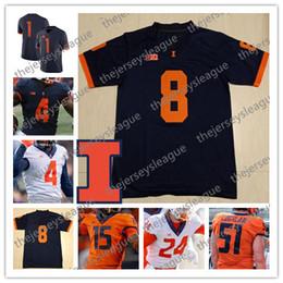 $enCountryForm.capitalKeyWord NZ - Illinois Fighting Illini 2019 Custom Any Name Number Stitched Navy Orange White #1 Isaiah Williams 18 Brandon Peters NCAA Football Jersey