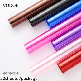 $enCountryForm.capitalKeyWord Australia - 20sheets lot 4.7 S Colorful Opp Paper, Flower   Floral Wrapping Paper Candy Cake Cookie Packaging Cellophane glassine Paper 60*60cm